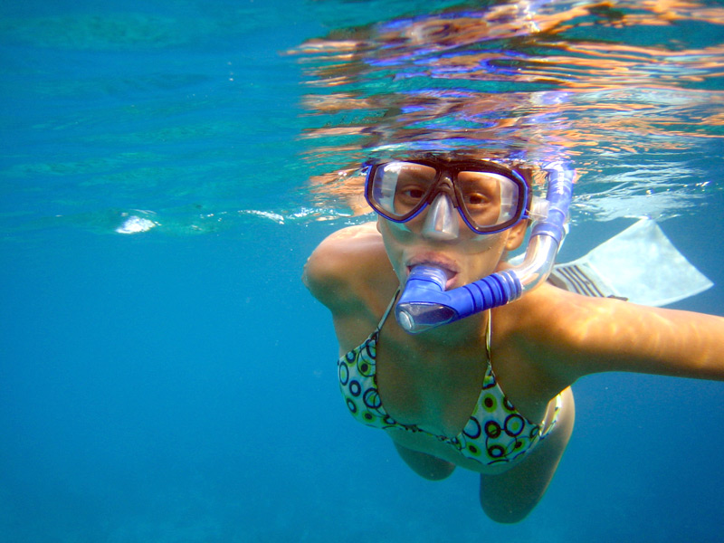 Snorkelling at Palm Beach on the Gold Coast